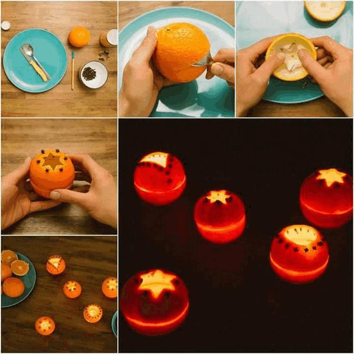 Χριστουγεννιάτικες κατασκευές με πορτοκάλι!