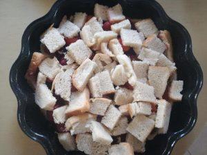 γλυκό με ψωμί του τοστ